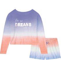 pigiama estivo con maglia boxy a maniche lunghe (arancione) - bpc bonprix collection