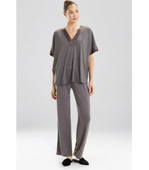 congo dolman pajamas / sleepwear / loungewear set, women's, grey, size xl, n natori