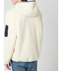 polo ralph lauren men's curly sherpa full zip hoodie - winter cream - xxl