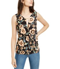 inc hardware printed surplice top, created for macy's