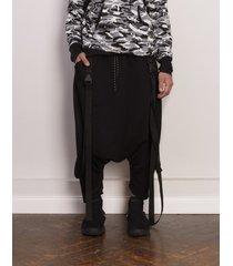 spodnie harlem belts black