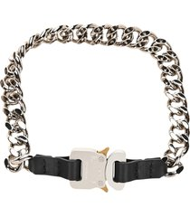 1017 alyx 9sm alyx chain neck lace with leather details