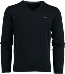 gant pullover v-hals donkerblauw rf 8030542/433