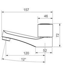 torneira de mesa para lavatório deca 1192 targa bica baixa cromada