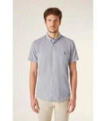 camisa reserva mc pf oxford color masculina