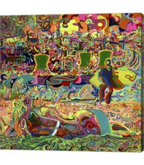 "metaverse fukushima beach party by josh byer canvas art, 24.25"" x 24"""