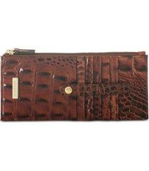brahmin credit card melbourne embossed leather wallet