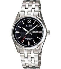 ltp-1335d-1av reloj dama doble calendario negro