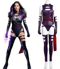 x-men psylocke cosplay costume women hallowmas jumpsuit custom made