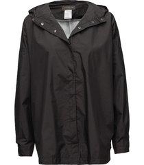 cape outerwear rainwear rain coats svart rosemunde