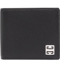 givenchy man black wallet in grain leather