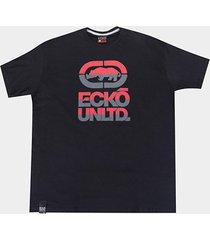camiseta ecko estampa logo plus size masculina - masculino