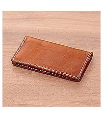 leather wallet, 'rich cognac' (indonesia)