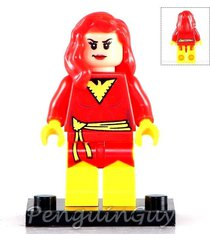 unbranded dark pheonix jean grey minifigure marvel universe fits lego uk seller