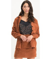 lofty manner mj14 aurelia ovehemd shirt- orange -