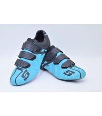 zapatillas para ciclismo de ruta smart ss ss0005r turquesa
