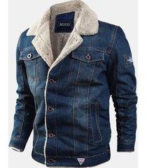 giacca invernale con risvolto allentato in pile