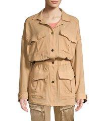 paradised women's beach explorer jacket - khaki - size s
