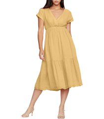 women's michael stars illana surplice cotton midi dress