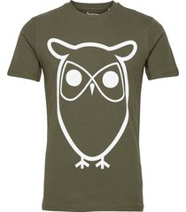 alder basic owl tee - gots/vegan t-shirts short-sleeved grön knowledge cotton apparel