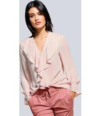 blouse alba moda wit::rozenhout