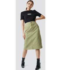 na-kd cargo skirt - green
