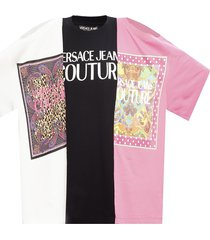 patterned t-shirt with cut-outs