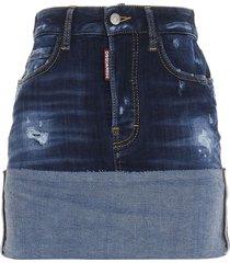 dsquared2 hi cuff skirt