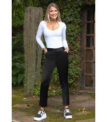 pantalón cristal outfit 1088 para mujer negro
