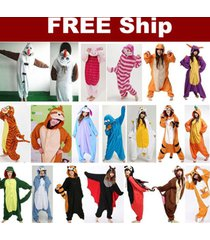 2016 new unisex adult pajamas kigurumi cosplay costume animal onesie sleepwear