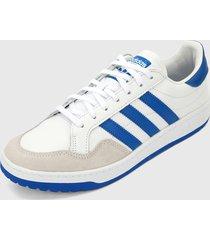tenis lifestyle blanco-azul adidas originals team court