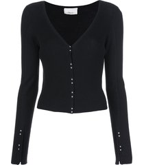 3.1 phillip lim dome buttons cardigan - black
