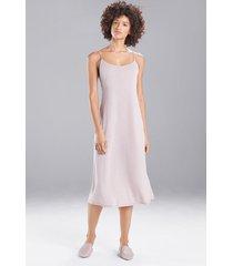 natori shangri-la nightgown, women's, beige, size l natori