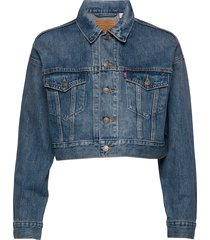 crop dad trucker dad tom jeansjack denimjack blauw levi´s women