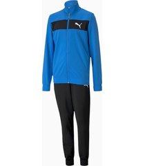 polyester trainingspak, blauw/aucun, maat 110 | puma
