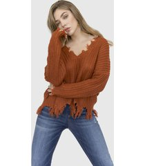 sweater roto ariadna camel racaventura