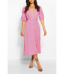 petite polka dot midaxi dress, purple