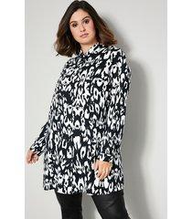 blouse sara lindholm zwart::offwhite