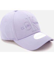 calvin klein jeans women's monogram cap - lilac