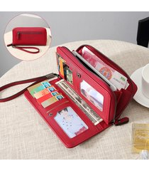 porta carte di credito multi-slot per donne in ecopelle 5.5 pollici telefono borsa