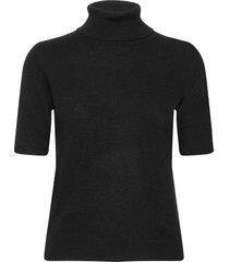 turtleneck t-shirt t-shirts & tops knitted t-shirts/tops zwart davida cashmere