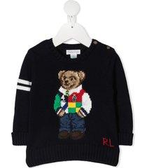 ralph lauren teddy bear cotton sweater