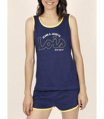 pyjama's / nachthemden admas pyjama shorts tank top lois yellow tape