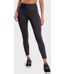 leggings everlast long basic gris - calce ajustado