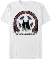 fifth sun men's silhouette shield short sleeve crew t-shirt