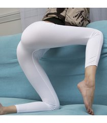sexy ice silk transparent one-piece leggings see through pencil pants club wear