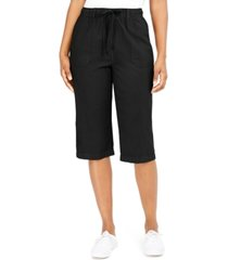 karen scott cropped cotton pull-on pants, created for macy's