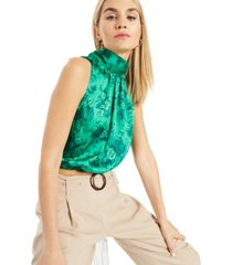inc printed scarf-tie-halter top, created for macy's
