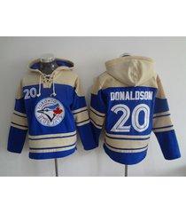 toronto blue jays 20 josh donaldson baseball pullover hoodie jersey