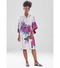 natori jubako sleep & lounge bath wrap robe, women's, size l natori